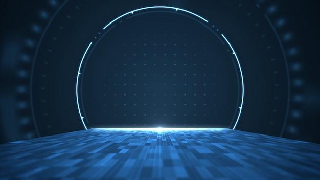 Abstract big data digitaal centrum, server en overdracht van datacommunicatie.