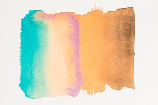 Abstract blauwgroen oranje aquarel behang