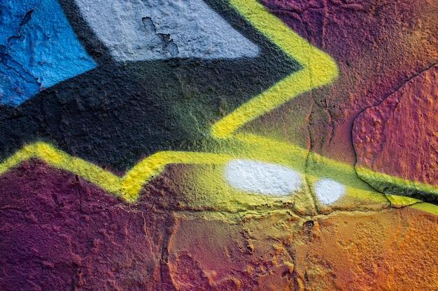 Abstract creatief graffiti behangpapier