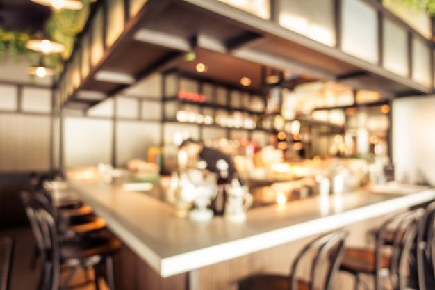 Abstract de koffiekoffiehuis van de onduidelijk beeldkoffie