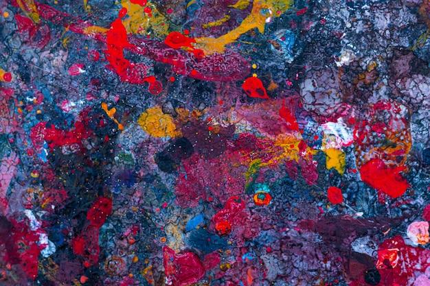Abstract gekleurd schilderij