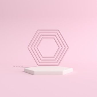Abstract geometrie podium voor productpresentatie