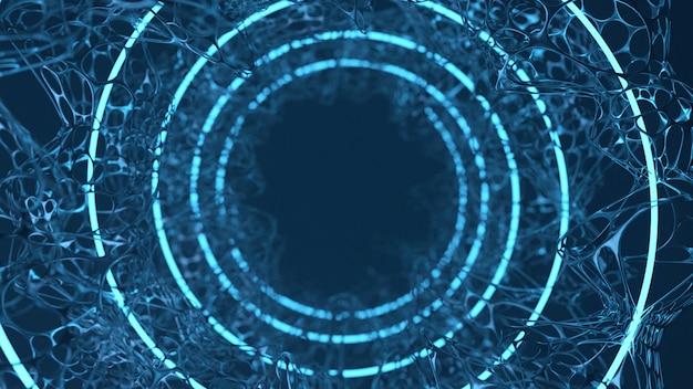 Abstract geometrie weefselorgaan in spiraalvorm
