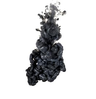 Abstract gevormd door kleuroplossing in water