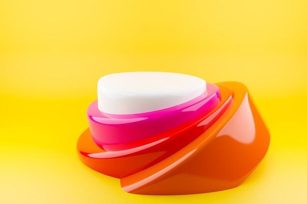 Abstract gevormd object geïsoleerd op geel