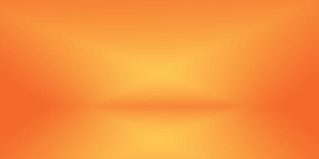 Abstract glad oranje achtergrondlay-outontwerp, studio, kamer, websjabloon, bedrijfsrapport met vloeiende cirkelverloopkleur