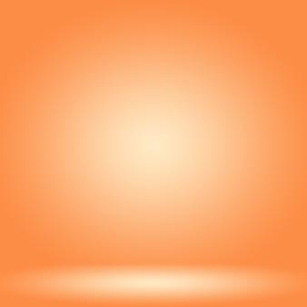 Abstract glad oranje achtergrondlay-outontwerp, websjabloon, bedrijfsrapport met vloeiende cirkelverloopkleur