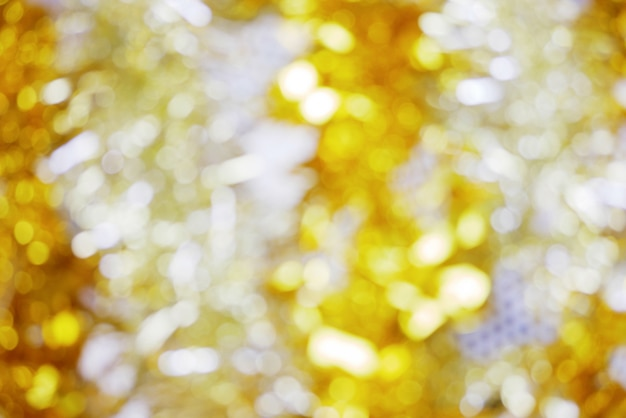 Abstract goud en wit met onscherpe achtergrond
