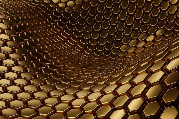 Abstract gouden geweven materiaal