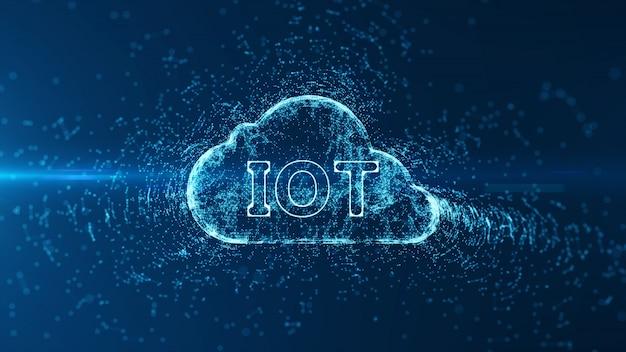 Abstract hi-speed internet van internet of things iot big data cloud computing.