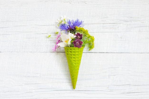 Abstract ijs van verse bloemen