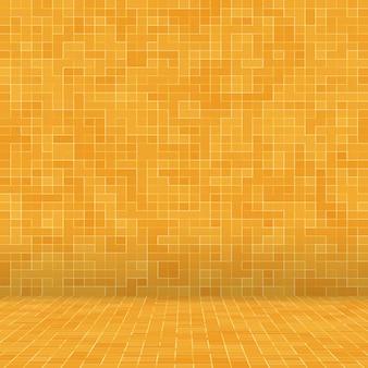 Abstract kleurrijk geometrisch patroon oranje geel en rood steengoed mozaïek textuur achtergrond modern...
