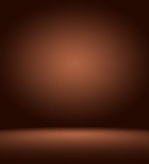 Abstract luxe donkerbruin en bruin verloop met bruin randvignet, studio-achtergrond - goed te gebruiken als achtergrondachtergrond, bord, studioachtergrond.