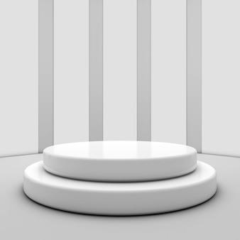 Abstract minimaal modern rond voetstuk of podium. 3d render. 3d-afbeelding.