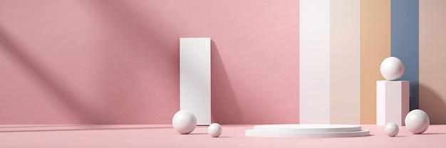 Abstract minimal podium stand platform voor productreclame en commercieel