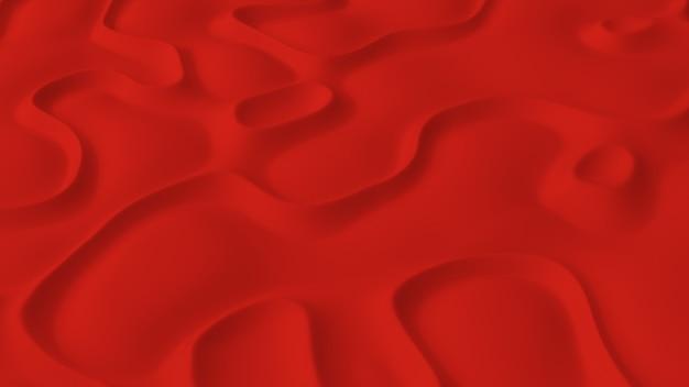 Abstract minimalistisch met rood ruisgolfveld
