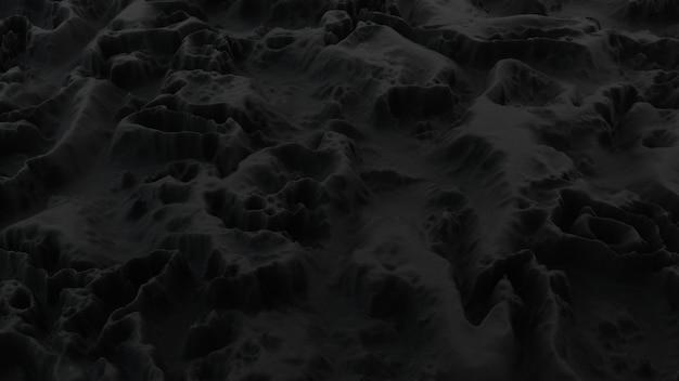 Abstract minimalistisch met zwart ruisgolfveld
