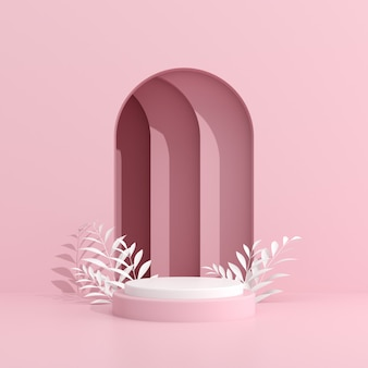 Abstract mock up van geometrie podium in minimale stijl.