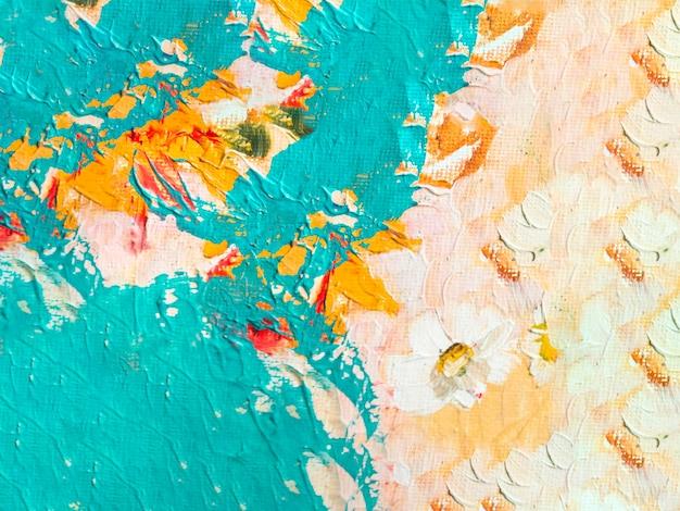 Abstract multi gekleurd schilderij