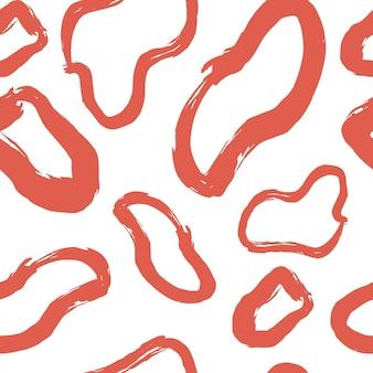 Abstract naadloos patroon met hand getrokken willekeurige abstracte vorm gemaakt met brush