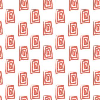 Abstract naadloos patroon met handgetekende rechthoek gemaakt met penseel