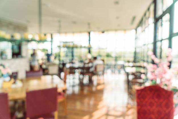 Abstract onduidelijk beeld in café voor achtergrond