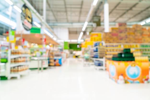 Abstract onduidelijk beeld in supermarkt