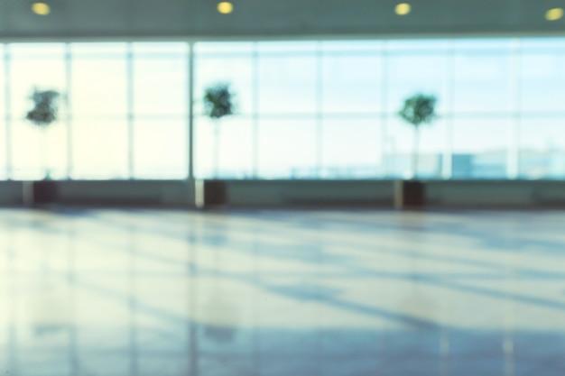 Abstract onduidelijk beeldschot in luchthaven voor