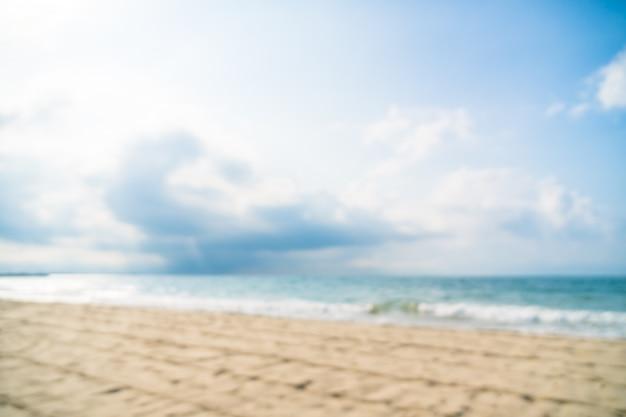 Abstract onscherpte defocused prachtige strand en zee