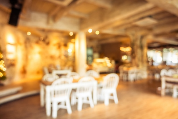 Abstract onscherpte en defocused koffie winkel cafe en restaurant