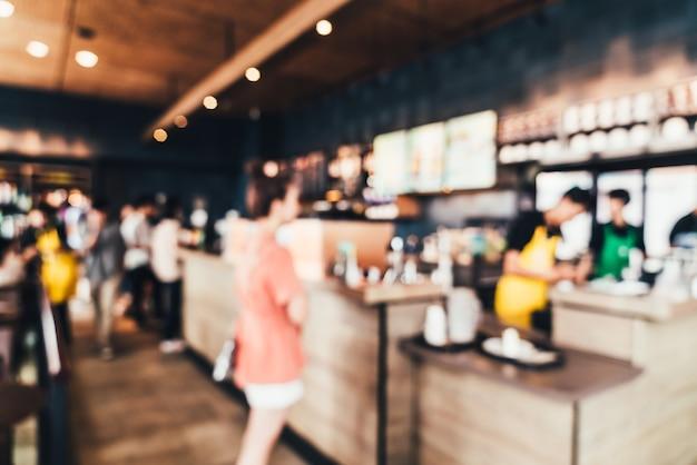 Abstract onscherpte en onscherpe coffeeshop en café-restaurant
