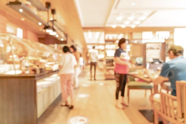 Abstract onscherpte en onscherpe hotel-restaurant voor achtergrond