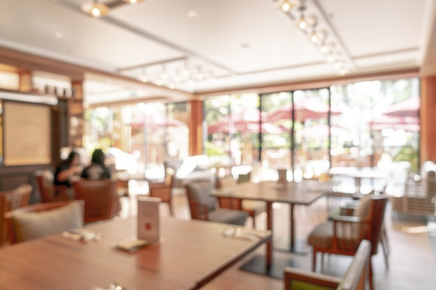 Abstract onscherpte en onscherpe hotelrestaurant