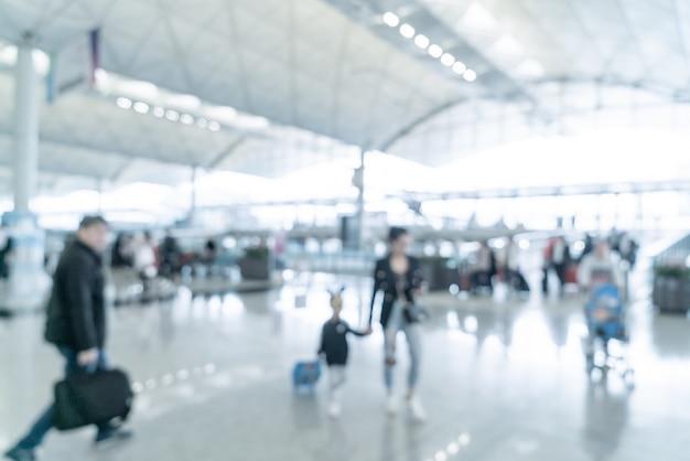 Abstract onscherpte en onscherpe luchthaven