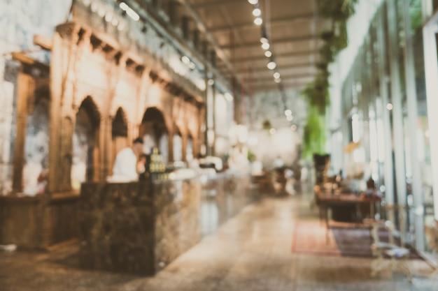 Abstract onscherpte en onscherpe restaurant