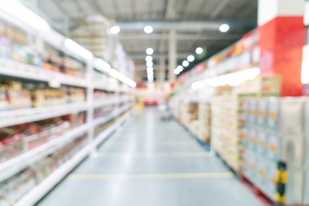 Abstract onscherpte en onscherpe supermarkt