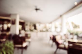 Abstract onscherpte restaurant interieur