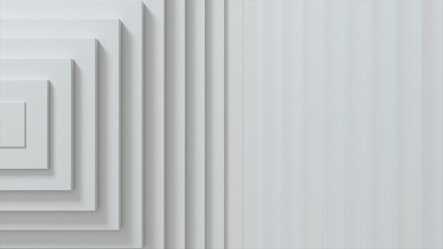 Abstract patroon van vierkanten met compensatie-effect. witte lege blokjes.