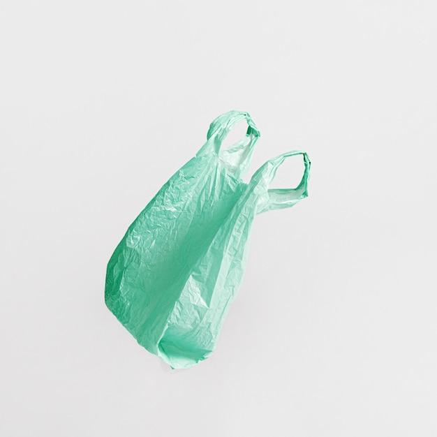 Abstract plastic zakconcept met exemplaarruimte