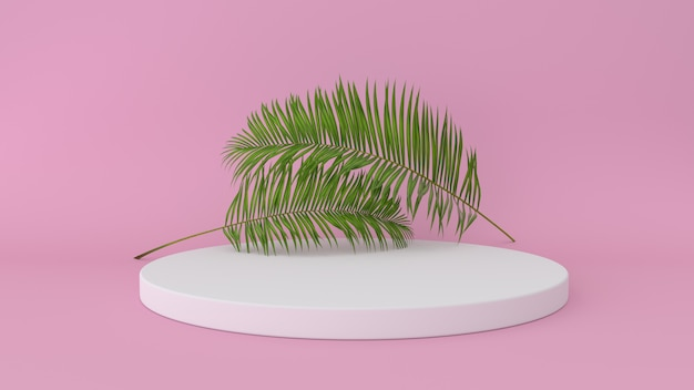 Abstract platform met palmblad