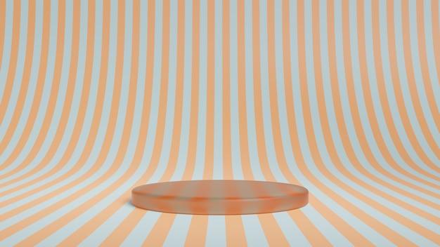 Abstract podium met strepen