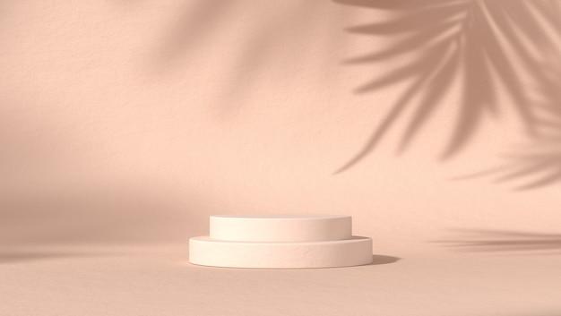 Abstract podium voor cosmetische productplaatsing op natuurlijke achtergrond