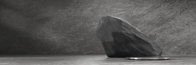 Abstract podiumplatform met steen voor productreclame en commercieel