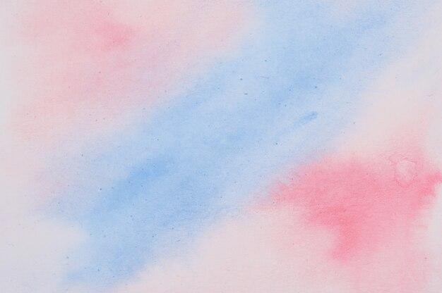 Abstract rood en blauw aquarel geschilderd oppervlak