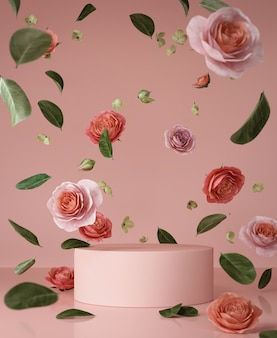Abstract roze scènepodium