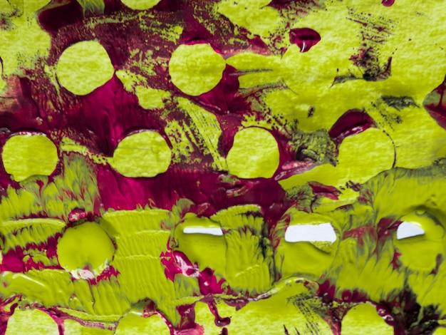 Abstract schilderij met olijfgroen