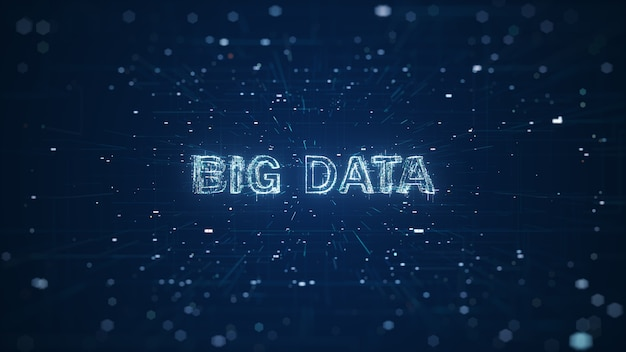 Abstract technologie big data-concept.