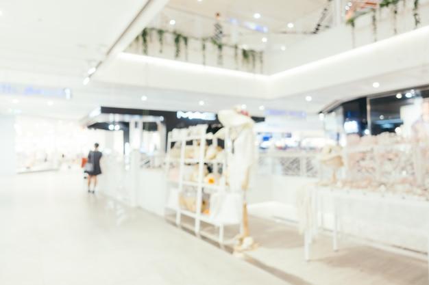 Abstract vage en bokeh defocused winkelcentrum binnenkant van warenhuis