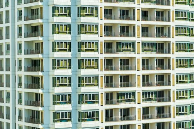 Abstract venster buitenkant van het bouwen van architectuur
