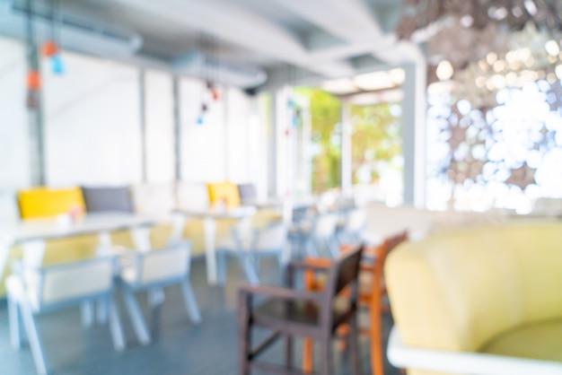 Abstract vervagen café-restaurant voor